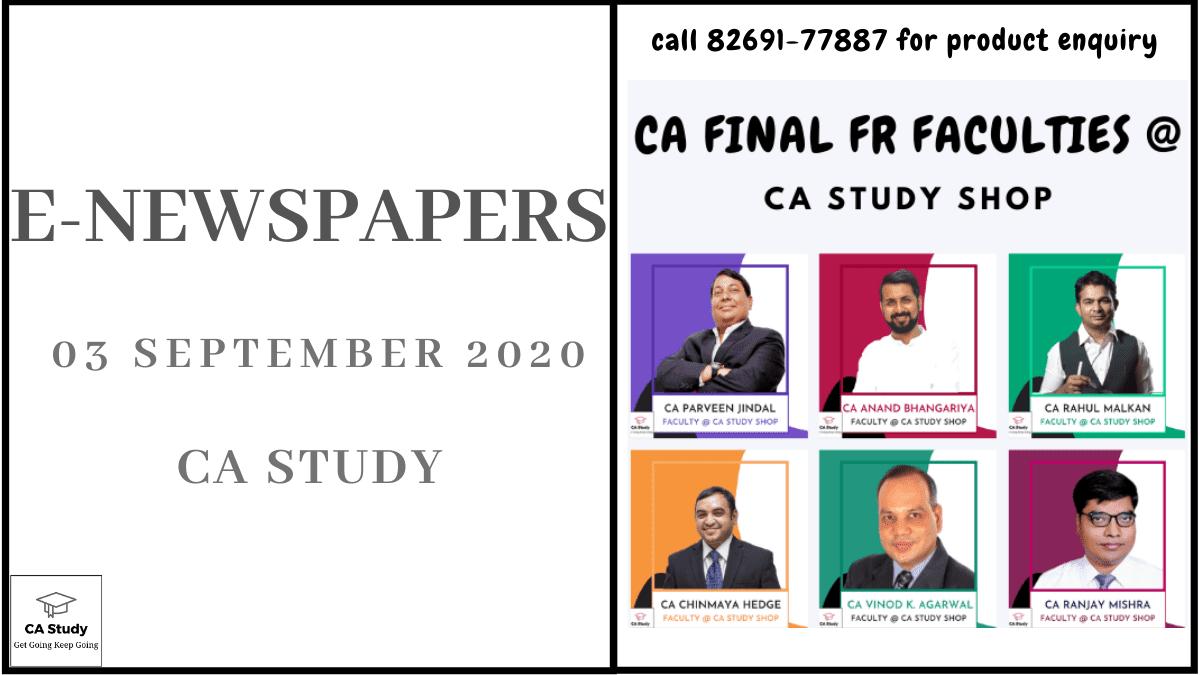 E-Newspapers for 03 September 2020 2
