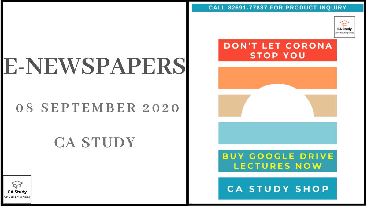 E-Newspapers for 08 September 2020