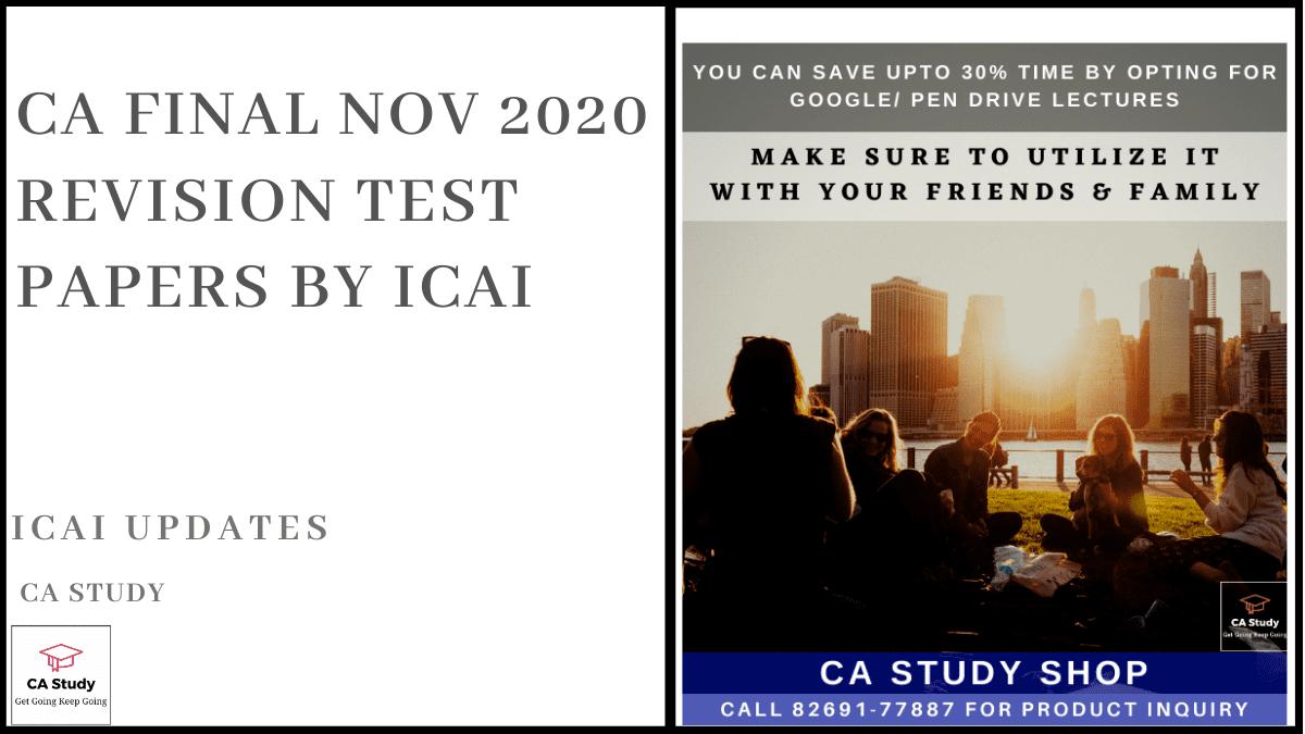 CA Final Nov 2020 RTP by ICAI
