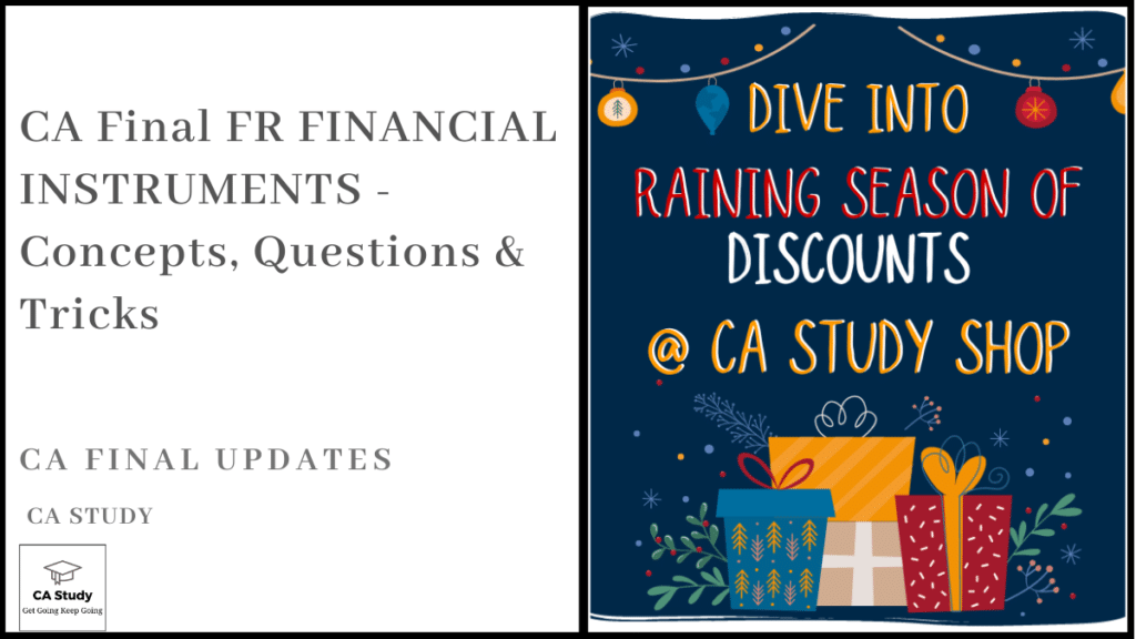 CA Final FR FINANCIAL INSTRUMENTS - Concepts, Questions & Tricks