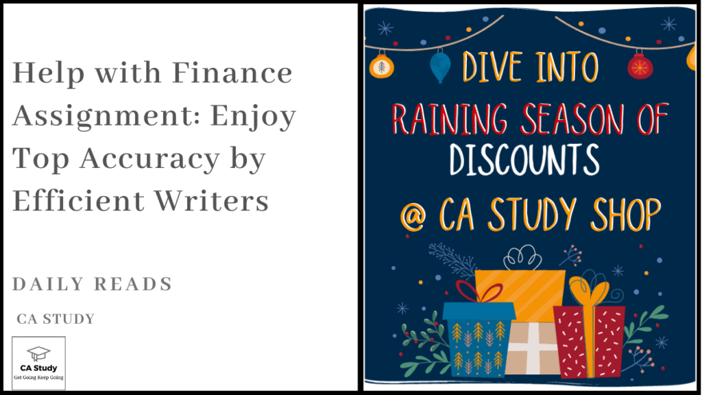 Help with Finance Assignment: Enjoy Top Accuracy by Efficient Writers