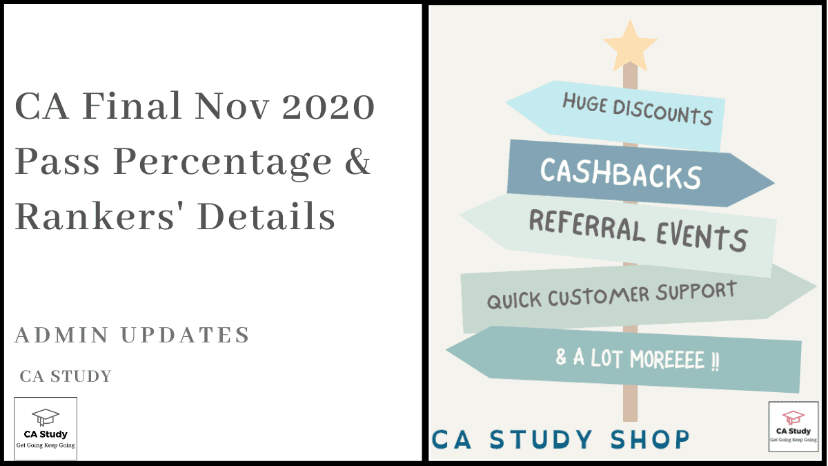 CA Final Nov 2020 Pass Percentage & Rankers' Details