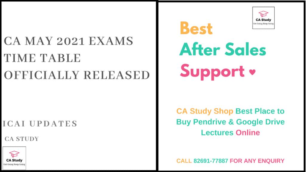 CA May 2021 Exam Date
