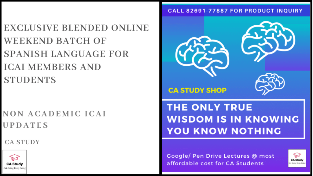 Exclusive Blended Online Weekend Batch of Spanish language for ICAI Members and Students