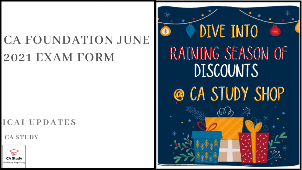 CA Foundation June 2021 Exam Form